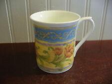 Queens Fine Bone China Yellow Tulip Floral Motif Mug