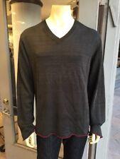 Comme des Garcons NEW! VINTAGE! Men's V-Neck Dk Gray Rayon Knit Sweater M NWOT!
