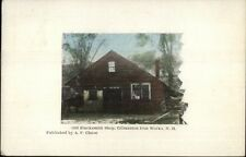 Gilmanton Iron Works NH Blacksmith Shop c1910 Postcard