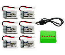 250mAh Battery & X6 Charger for Syma X11 X11c Hubsan X4 H107c H107d H107l Drone