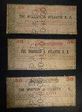 New listing 3- 50¢ Notes For Western & Atlantic Railroad Lot 50