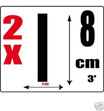 lot 2 lettres [I] Sticker autocollant noir hauteur 8cm Lettre adhésive en vinyle