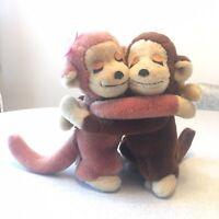 Vintage Dakin Hugging Monkeys 1975 Plush Stuffed Animal