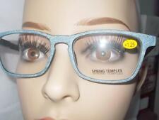 READING GLASSES GRAY DENIM JEANS 6 STRENGTH UNISEX SPRING HINGE FREE CASE & SHIP