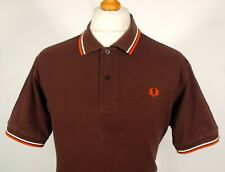 Fred Perry Brown Original M1200 Polo - L|XL|44 - Ska Mod Scooter Vintage 60's