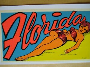 1950's/60's Lindgren-Turner Water Decal Florida Bikini Pin-Up Girlie Sunbathing