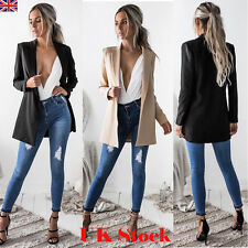 Womens Ladies Waterfall Slim Suit Stylish Style Blazer Coat Casual Office Jacket