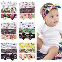 3PCS Newborn Toddler Kid Girls Turban Elastic Headband Headwear Accessories