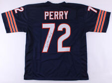 WILLIAM PERRY AUTOGRAPHED CUSTOM JERSEY (CHICAGO BEARS) - JSA COA!