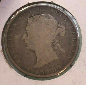 1872 CANADA SILVER HALF DOLLAR