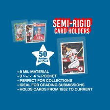 (50) Semi-Rigid Card Holder #1 - PSA Graded Card Sub Sleeves - IN STOCK!