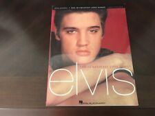 ARTIST SONGBOOK: ELVIS PRESLEY - THE 50 GREATEST LOVE SONGS (2002, PAPERBACK)