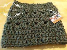 LUNIQUE Handmade Crochet SUPER PESANTE Basso di lenza/Cappuccio Verde Foresta
