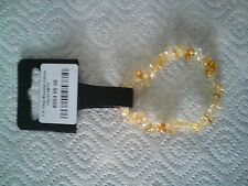 Citrino Chip Pulsera 7.5""