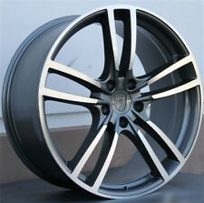 """20/"""" RINSPEED STYLE 20x9 BLACK WHEEL REPLACEMENT 5x130 FIT CAYENNE Q7 VW TOUAREG"""