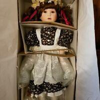 "Marie Osmond Four Seasons Collector 24"" Porcelain Doll ""Amber/Autumn"