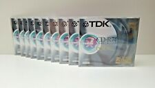 TDK 10x CD-R74 METALLIC Blank Compact Disc Recordable 74 Minutes 650mb SEALED
