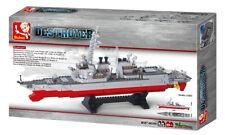 Sluban Navy Destroyer 1:350 Scale 615 Piece Building Bricks Set M38-B0390 NEW