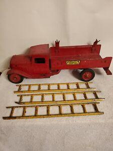 Antique Buddy L Ladder Truck