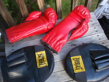 2 Pairs Of Everlast Padded Boxing Gloves And Mma Punching Kick Pads
