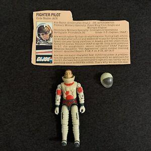 Vintage Hasbro 1983 Gi Joe ARAH Pilot ACE Action Figure Swivel-Arm Complete MINT