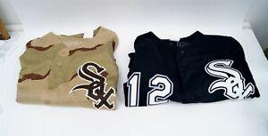 Lot of 2 Majestic Chicago White Sox Jerseys XL 2XL A.J Pierzynski Carlos Quentin