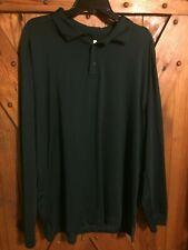 New Men's Grand Slam 360 Motion Flow Polo Shirt Size Xl Green Long Sleeve