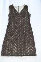 Dolce & Gabbana Brown Lace Floral Sleeveless Back Zip Dress Size IT 46 / UK 14