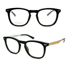 Gucci GG 1155 CSA Black 49/21/145 Eyeglasses Rx Made in Italy - New