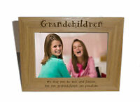 Grandchildren Wooden Photo Frame 6 x 4 - Personalise this frame - Free Engraving