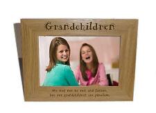 I nipoti in legno Photo Frame 6 x 4-personalizzare questo riquadro-INCISIONE GRATUITA