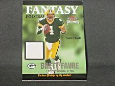 Brett Favre 2002 Fleer Premium Fantasy Football Jersey Green Bay Packers Relic
