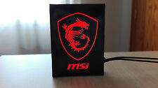 Logo iluminado para pc MSI DRAGON led, GTX 1070, 1060, 970, 960, 1080, RX AMD RS