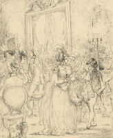 Harold Hope Read (1881-1959) - Pen and Ink Drawing, Ballroom Scene