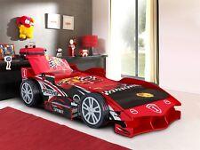 Boys Childrens Kids 3'0 Single Red Speedracer Formula 1 Racer Car Bed + Drawer