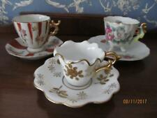3 Pretty Antique or Vintage Demitasse Cups & Saucers ~ All Marked & Perfect!