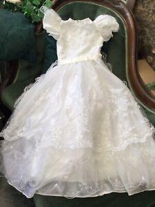 Girls Stunning First Communion Bridesmaid Ruffles Dress