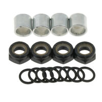Replacement Truck Bearing Washers Spacers Nuts for Longboard Cruiser Scooter