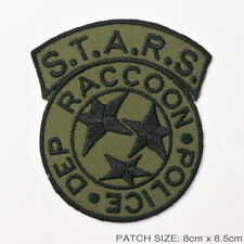 RESIDENT EVIL S.T.A.R.S. Raccoon City Police Patch - GREEN / OLIVE - STARS
