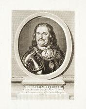 c1760 Ruyter Michiel Adriensz de Kupferstich-Porträt Dupuis van Somer Admiral