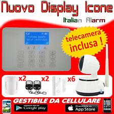ANTIFURTO CASA GSM WIRELESS SENZA FILI DA APP CELLULARE TELEFONATA + TELECAMERA