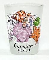 CANCUN MEXICO SEA SHELLS SHOT GLASS