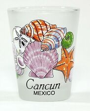 CANCUN MEXICO SEA SHELLS SHOT GLASS