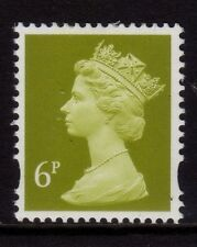 GB 1993 Machin Definitive 6p yellow-olive SG Y1671 MNH (2B)