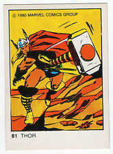 1980 Spanish Marvel Comics Superhero Terrabusi Trade Card  - #81 - Thor