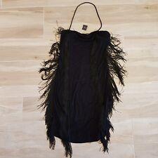 abito frange sisley, mini abito nero sisley abito da sera  nera, club wear