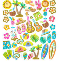 Glitter Tropical Luau Icon Summer Stickers Papercraft Planner Party Supply Craft