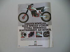 advertising Pubblicità 1980 MOTO CAGIVA WMX 125