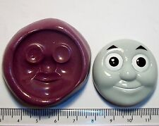 Thomas the Tank Engine Face Sugarpaste flower paste cup cake topper icing