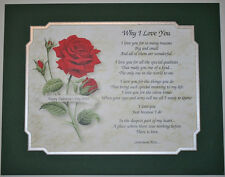 WHY I LOVE YOU Personalized Poem GIFT The PERFECT Valentine's Day Gift